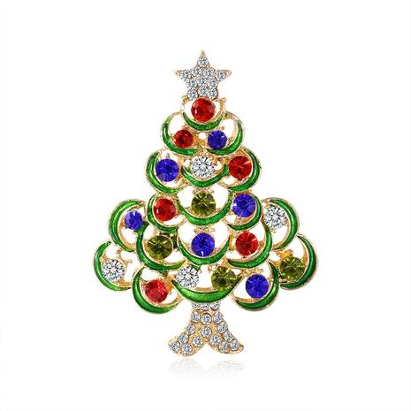 new retro diamond-encrusted Christmas tree brooch Christmas series spot wholesale NHDR434277's discount tags