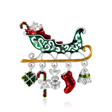 New fashion cartoon holiday Christmas gift car brooch alloy rhinestone drip corsage spot wholesale NHDR434282's discount tags