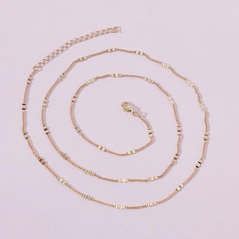 fashion jewelry simple metal thin waist chain NHLU434825's discount tags