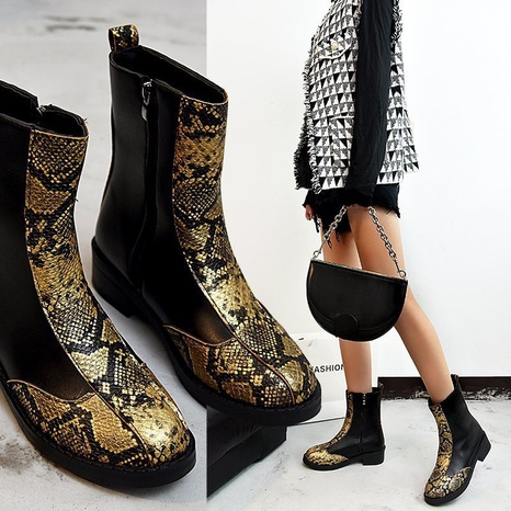Cross-border foreign trade plus size 2021 autumn and winter black spot wholesale fashion short tube short boots pointed toe women's single boots NHMIX435669's discount tags