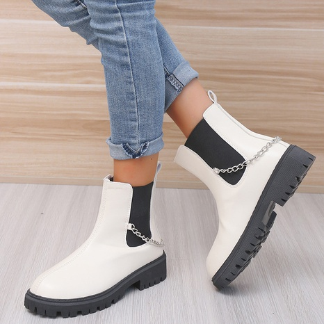 Martin boots women 2021 fall/winter new style Europe and America large size foreign trade thick-soled muffin casual short tube locomotive short boots women NHMIX435674's discount tags
