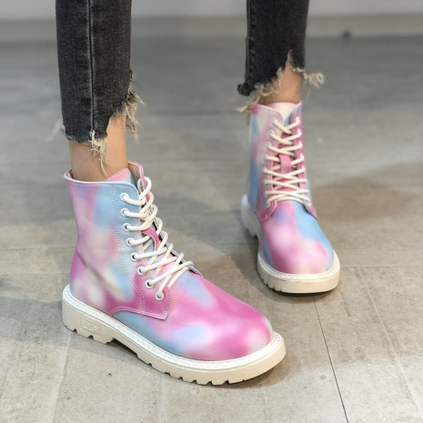 European and American foreign trade plus size women's shoes 2021 new colorful colors Martin boots women's short boots NHMIX435688's discount tags