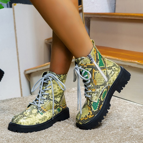 Cross-border Martin boots female British style autumn and winter 2021 foreign trade thick-soled low-heeled round toe Chelsea boots NHMIX435706's discount tags