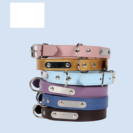 pet supplies PU leather adjustable collar dog cat collars NHPSM435190's discount tags