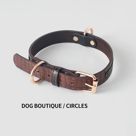 Pet leash dog leash PU leather collar dog collar dog leash dog chain pet supplies spot wholesale NHZHX435233's discount tags