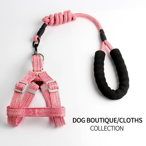 hot-selling pet leash dog chest harness for small and medium-sized dogs round rope chest back traction supplies wholesale NHZHX435235's discount tags