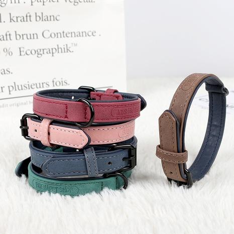 hot sale pet collar dog PU collar medium and large dog collar traction collar supplies wholesale NHZHX435289's discount tags