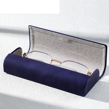 fashion dark blue portable anti-pressure glasses case wholesale nihaojewelry  NHVM416837's discount tags