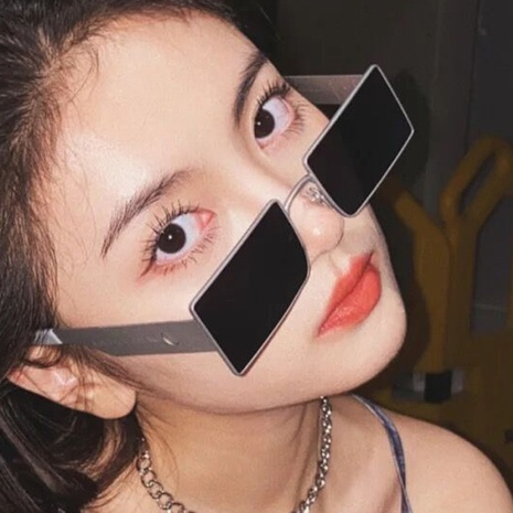 fashion metal frame square sunglasses wholesale Nihaojewelry NHKD416867's discount tags