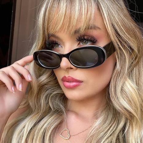 Retro oval small frame bright color sunglasses wholesale Nihaojewelry NHKD416872's discount tags