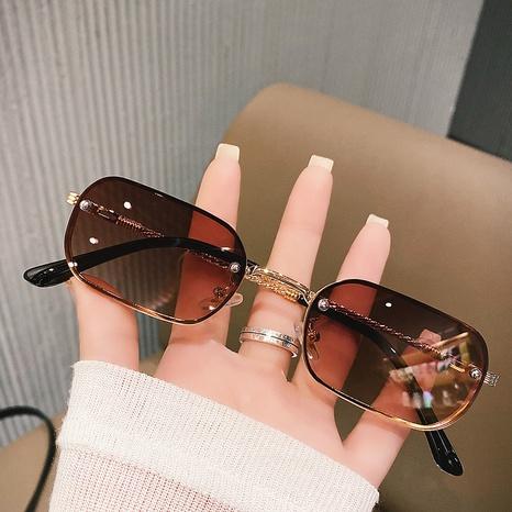 retro metal small frame sunglasses wholesale Nihaojewelry NHKD416883's discount tags