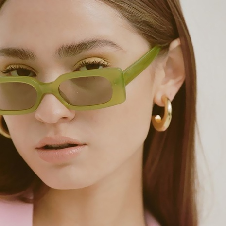simple square small frame jelly color sunglasses wholesale Nihaojewelry NHKD416887's discount tags