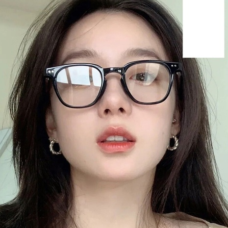 simple flat mirror square black frame glasses wholesale Nihaojewelry NHKD416888's discount tags