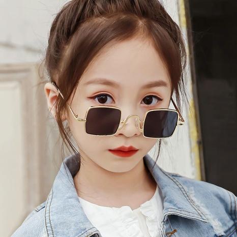 children's retro metal square frame sunglasses wholesale Nihaojewelry NHKD416893's discount tags