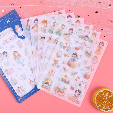 cartoon stationery hand account material stickers wholesale nihaojewelry NHDW417088's discount tags