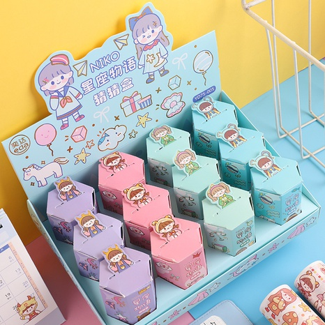 Constellation Story Printing Handbook Paper Tape Surprise Box Wholesale Nihaojewelry  NHDW417091's discount tags