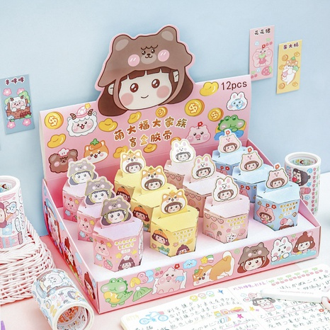 cartoon creative hand account sticker surprise box wholesale Nihaojewelry  NHDW417092's discount tags