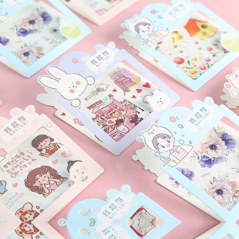creative cute cartoon paper hand account decoration stickers wholesale nihaojewelry NHDW417094's discount tags