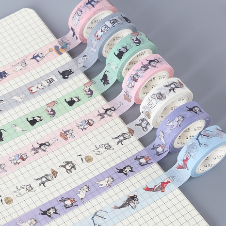 cartoon creative cat pattern paper hand account material decoration stickers wholesale nihaojewelry NHDW417097's discount tags