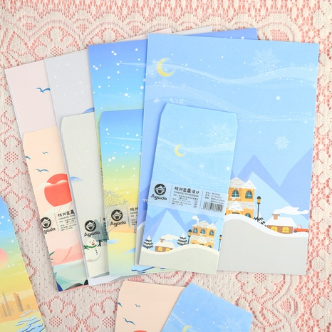 Cute Letter Paper Envelope Combination Wholesale Nihaojewelry NHDW417099's discount tags