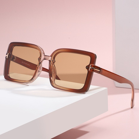 fashion tea-color big frame sunglasses wholesale Nihaojewelry NHLMO417151's discount tags