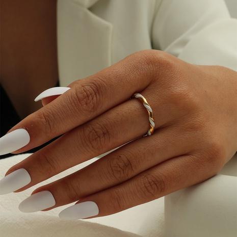 New stitching twist ring metal retro minimalist open ring NHIQ439729's discount tags