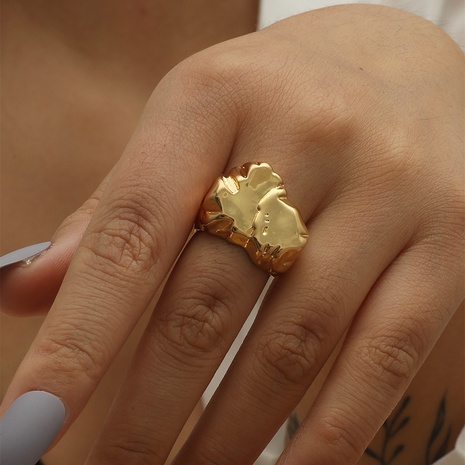 fashion high-end bump copper ring niche design ins tide cold wind opening quit index finger ring NHIQ439724's discount tags