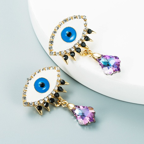 Mode-Legierung Öltropfen Diamant Augen geometrische Ohrringe Großhandel Nihaojewelry NHLN423530's discount tags