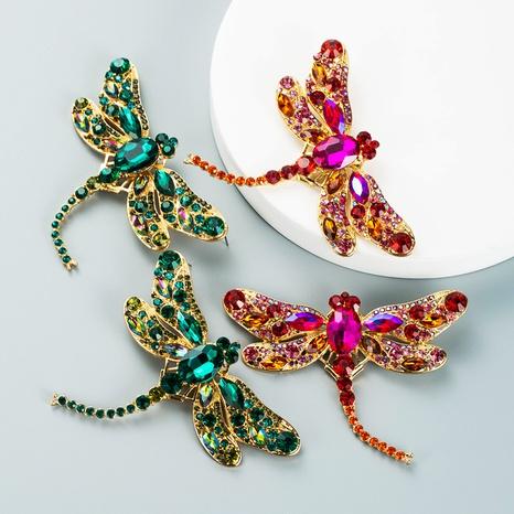 color rhinestone dragonfly shape stud earrings wholesale nihaojewelry  NHLN419900's discount tags