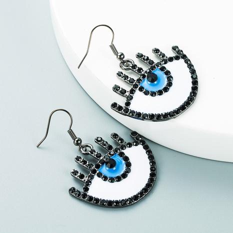 fashion drop oil diamond demon eyes pendant earrings wholesale nihaojewelry  NHLN419915's discount tags