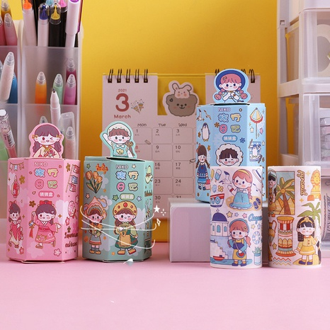 Creative Cute Stickers Stationery Surprise Box Wholesale Nihaojewelry  NHDW417079's discount tags