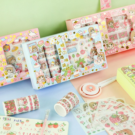fashion funny set cute hand account decorationtape sticker wholesale nihaojewelry NHDW417070's discount tags