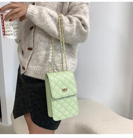 Pearl embroidery thread shoulder mobile phone bag wholesale Nihaojewelry  NHXC417273's discount tags