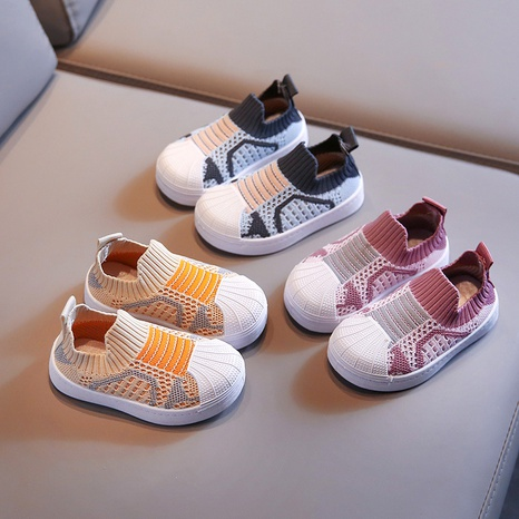 baby sports shoes children's autumn soft bottom breathable children's hollow fly woven set foot mesh shoes NHTUT436533's discount tags