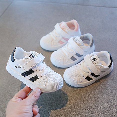 Baby shoes spring children's soft-soled sports shoes 1-3 years old fashion casual shoes breathable single shoes NHTUT436549's discount tags