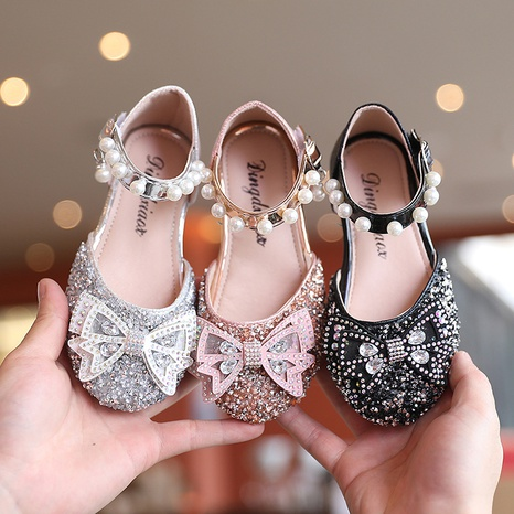 Girls Baotou Sandals 2021 Summer New Korean Bow Children's Shoes Princess Shoes Big Kids Fashion Beach Shoes NHTUT436559's discount tags