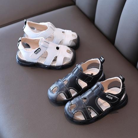 summer sandals Korean children's Baotou anti-kick hole shoes new non-slip soft bottom boys beach shoes NHTUT436569's discount tags