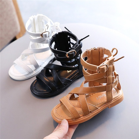 Girls Roman shoes summer new children's baby fashion little girl princess sandals high open-toed boots NHTUT436571's discount tags