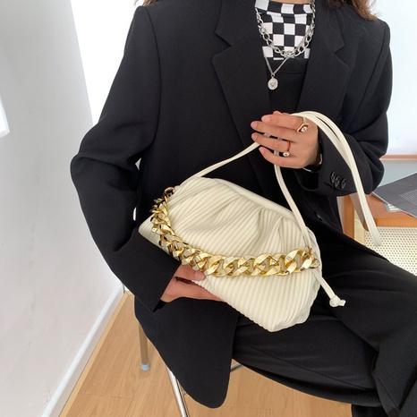 Autumn and winter new niche design messenger bag fashion wild hand fold bag NHGN436728's discount tags