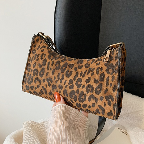 retro leopard large-capacity shoulder bag  NHRU436774's discount tags
