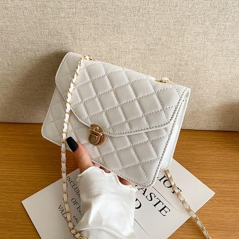 Korean chain fashion simple shoulder bag trendy embroidered simple messenger bag NHRU436779's discount tags