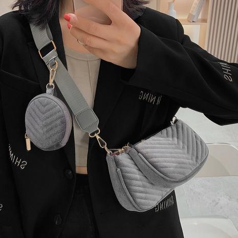 three-in-one bag new bag underarm bag fashion velvet cloth one-shoulder messenger bag NHTG436834's discount tags