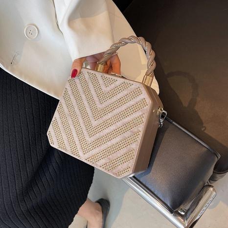 Mode Kettenschloss heller Diamant Messenger Handytasche Großhandel Nihaojewelry NHGN417533's discount tags