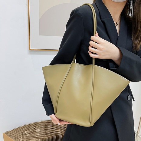 einfarbig große Schulterhandtasche Großhandel nihaojewelry NHGN417590's discount tags