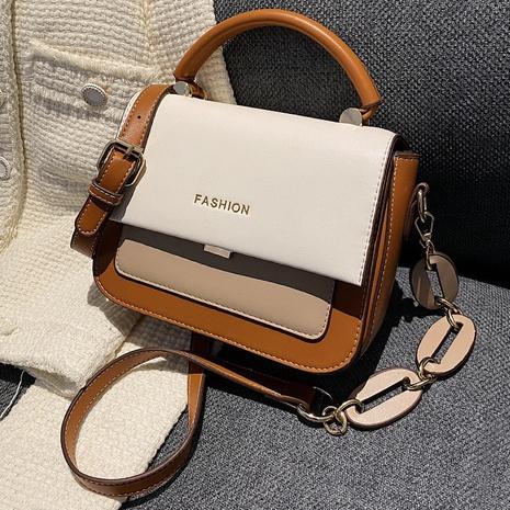 bolso cuadrado pequeño de viajero de color de contraste retro al por mayor nihaojewelry NHLH417695's discount tags
