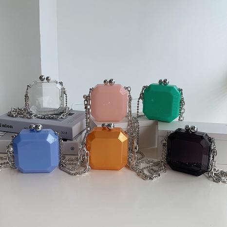 bolso de la caja del hombro de la cadena de acrílico transparente de la moda al por mayor nihaojewelry NHLH417697's discount tags