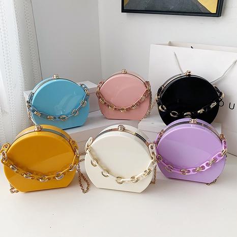bolso geométrico de cadena ancha de color caramelo de moda al por mayor nihaojewelry NHLH417698's discount tags