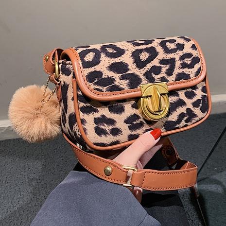 nueva moda retro leopardo hombro pequeño bolso cuadrado al por mayor nihaojewelry NHLH417701's discount tags