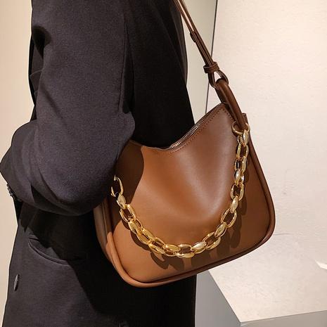 moda retro cadena ancha bolsa de cubo de color sólido al por mayor nihaojewelry NHLH417718's discount tags