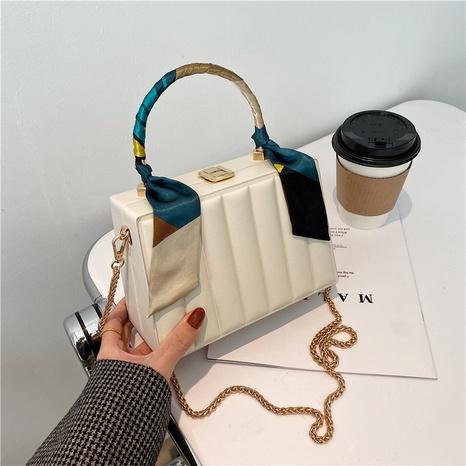 Bolso cuadrado pequeño de la bufanda de seda de la cadena del color sólido de la moda al por mayor Nihaojewelry NHLH417721's discount tags